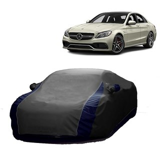 InTrend All Weather  Car Cover For Mercedes Benz M-Class (Designer Grey  Blue )
