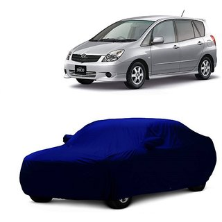 DrivingAID Water Resistant  Car Cover For Hyundai Eon (Blue With Mirror )