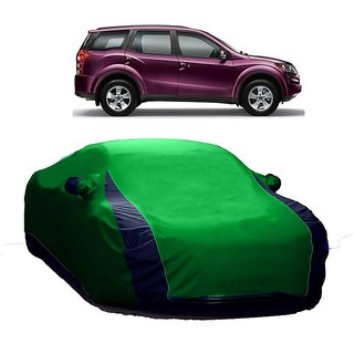 AutoBurn Water Resistant  Car Cover For Mahindra 300 (Designer Green  Blue )