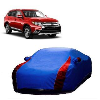 Bull Rider Water Resistant  Car Cover For Mahindra Reva (Designer Blue  Red )