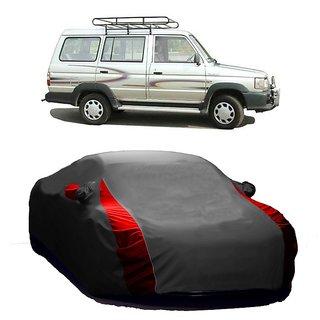 AutoBurn Water Resistant  Car Cover For Hyundai SantaFe (Designer Grey  Red )