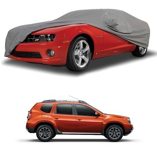 Bull Rider Water Resistant  Car Cover For Toyota Corolla Altis (Grey With Mirror )