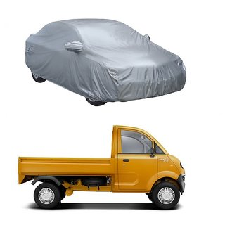 Bull Rider Water Resistant  Car Cover For Renault Kwid (Silver With Mirror )