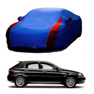 Bull Rider Water Resistant  Car Cover For Datsun Redi GO (Designer Blue  Red )