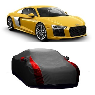 AutoBurn Water Resistant  Car Cover For Renault Scala (Designer Grey  Red )