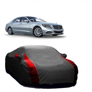Bull Rider Water Resistant  Car Cover For Tata Sonata Embera (Designer Grey  Red )