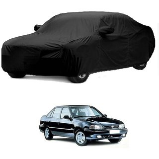 Bull Rider Water Resistant  Car Cover For Toyota Camry Hybrid (Black With Mirror )