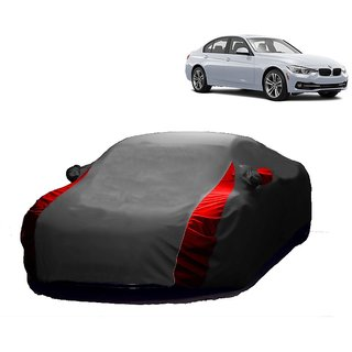 DrivingAID Water Resistant  Car Cover For BMW 1 Series (Designer Grey  Red )