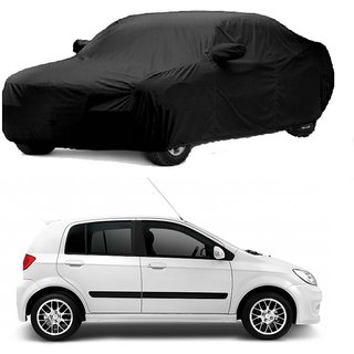 Bull Rider Water Resistant  Car Cover For Hyundai Grand I10 (Black With Mirror )