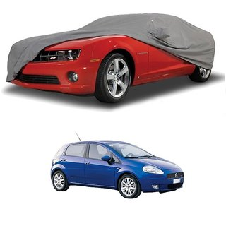 Bull Rider Water Resistant  Car Cover For Tata Hexa (Grey With Mirror )