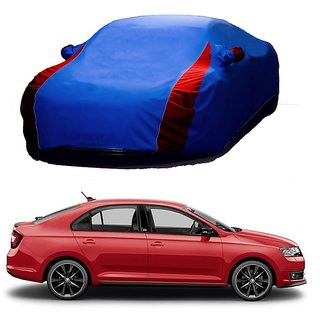 Bull Rider Water Resistant  Car Cover For Fiat Siena (Designer Blue  Red )