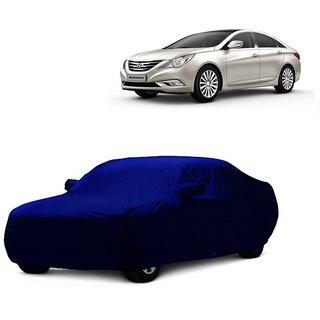 DrivingAID Water Resistant  Car Cover For Maruti Suzuki Ertiga (Blue With Mirror )