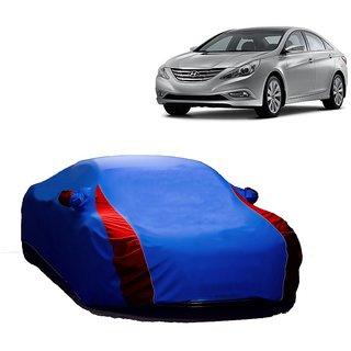 Bull Rider Water Resistant  Car Cover For Mahindra Vertio (Designer Blue  Red )