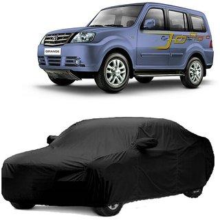 DrivingAID Water Resistant  Car Cover For Maruti Suzuki WagonR Stingray (Black With Mirror )