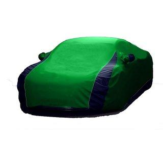 Bull Rider Water Resistant  Car Cover For Tata Hexa (Designer Green  Blue )