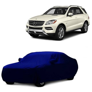 DrivingAID Water Resistant  Car Cover For Mitsubishi Pajero (Blue With Mirror )