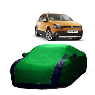 DrivingAID Water Resistant  Car Cover For Maruti Suzuki S-Cross (Designer Green  Blue )