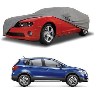 DrivingAID Water Resistant  Car Cover For Tata Sonata Embera (Grey With Mirror )
