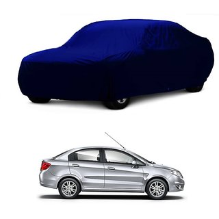 Bull Rider Water Resistant  Car Cover For Maruti Suzuki SX4 (Blue Without Mirror )