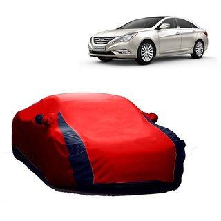 Bull Rider Water Resistant  Car Cover For Hyundai Verna Fluidic 4S (Designer Red  Blue )
