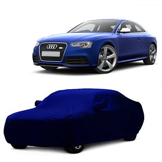 Bull Rider Water Resistant  Car Cover For BMW 6 Series (Blue With Mirror )