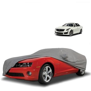 Bull Rider Water Resistant  Car Cover For Tata Sumo (Grey With Mirror )