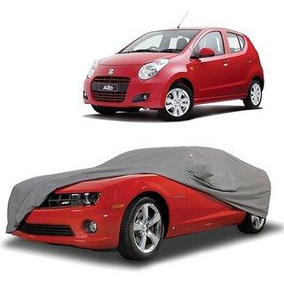 AutoBurn UV Resistant Car Cover For Maruti Suzuki Alto K10 New (Grey With Mirror )