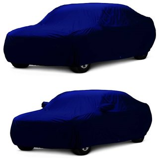 AutoBurn Water Resistant  Car Cover For BMW Alpina B6 (Blue Without Mirror )