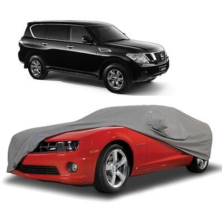 InTrend UV Resistant Car Cover For Mahindra Reva (Grey With Mirror )