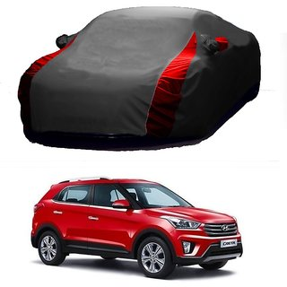Bull Rider Water Resistant  Car Cover For Daewoo Cielo (Designer Grey  Red )