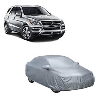 DrivingAID Water Resistant  Car Cover For Nissan Micra Active (Silver With Mirror )