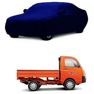 DrivingAID Water Resistant  Car Cover For Maruti Suzuki Omni (Blue With Mirror )