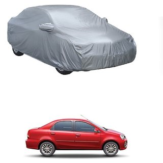 RideZ Water Resistant  Car Cover For Chevrolet Enjoy (Silver With Mirror )