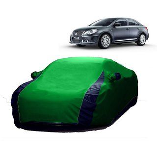 Bull Rider Water Resistant  Car Cover For Toyota Land Cruiser (Designer Green  Blue )