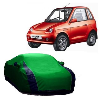DrivingAID Water Resistant  Car Cover For Mahindra Scorpio 2015 (Designer Green  Blue )