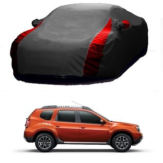 Bull Rider Water Resistant  Car Cover For Toyota Corolla Altis (Designer Grey  Red )