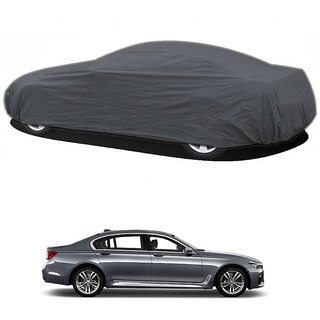 RideZ Water Resistant  Car Cover For BMW 7 Series (Grey Without Mirror )