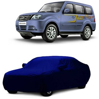 Bull Rider Water Resistant  Car Cover For Hyundai Elantra (Blue With Mirror )