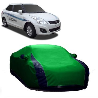 Bull Rider Water Resistant  Car Cover For Maruti Suzuki Zen Estilo (Designer Green  Blue )