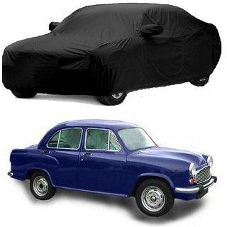 DrivingAID Water Resistant  Car Cover For Maruti Suzuki Alto-800 (Black With Mirror )