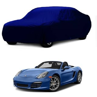 DrivingAID Water Resistant  Car Cover For Volkswagen Beetle (Blue Without Mirror )