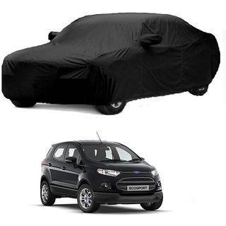 RideZ Water Resistant  Car Cover For Land Rover Discovery (Black With Mirror )