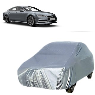 DrivingAID Water Resistant  Car Cover For Audi A8 (Silver Without Mirror )