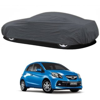 RideZ Water Resistant  Car Cover For Mercedes Benz Benz A (Grey Without Mirror )