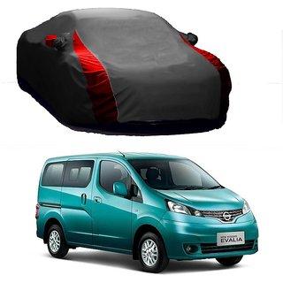 Bull Rider Water Resistant  Car Cover For Toyota Etios Cross (Designer Grey  Red )