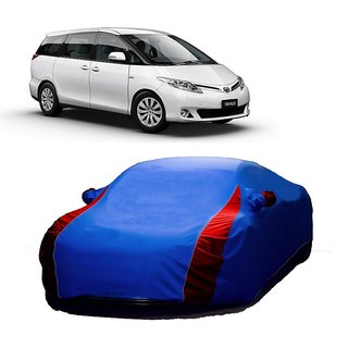 RideZ Water Resistant  Car Cover For Volvo S40 (Designer Blue  Red )