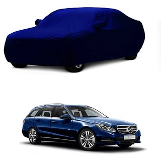 DrivingAID Water Resistant  Car Cover For Hyundai Verna (Blue With Mirror )