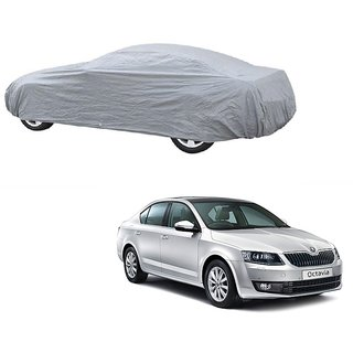 RideZ Water Resistant  Car Cover For Toyota Qualis (Silver Without Mirror )