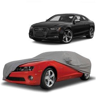 Bull Rider Car Cover For Tata Sumo Grande (Grey With Mirror )