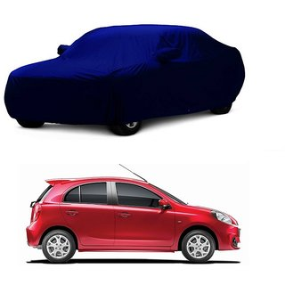 Bull Rider Water Resistant  Car Cover For Tata Indigo Marina (Blue With Mirror )